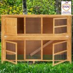 Home and Roost 6 Foot Double Hutch